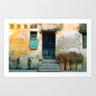 ANTIQUE CHINESE WALL - H… Art Print