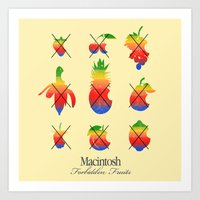 Mac Forbidden Fruits Art Print