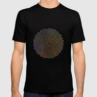 Spiral Dots Mens Fitted Tee Black SMALL