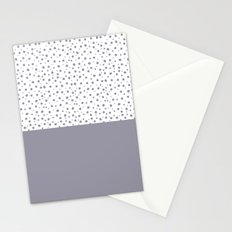 Lilac Gray Stationery Cards