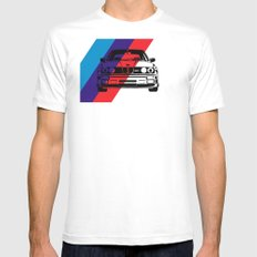E30 M3 SMALL White Mens Fitted Tee