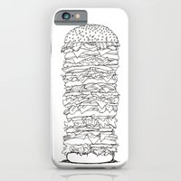 iPhone & iPod Case featuring Giant Burger by Smog