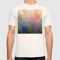 Fire Meditation Pose Mens Fitted Tee Natural SMALL