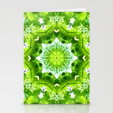 GREEN LEAVES MANDALA Stationery Cards