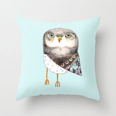 Owl by Ashley Percival Throw Pillow