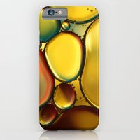 iPhone & iPod Case featuring Oil & Water Abstract II by Sharon Johnstone