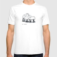 Ma Biquette Mens Fitted Tee White SMALL