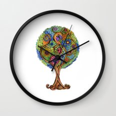 Magical tree Wall Clock