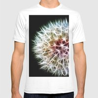 Fractal dandelion Mens Fitted Tee White SMALL