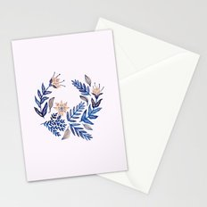 Blue Wreath Stationery Cards