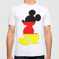 German Mickey Maus Mens Fitted Tee Ash Grey SMALL