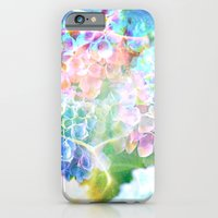 iPhone & iPod Case featuring Hydrangeas in Water by The Digital Weaver