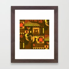 Fall Square Framed Art Print