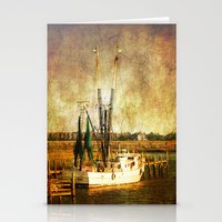 Old Shrimp Boat Stationery Cards