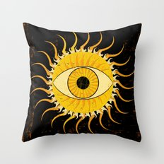 All-seeing sun Throw Pillow