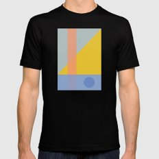 Geo Comp SMALL Mens Fitted Tee Black