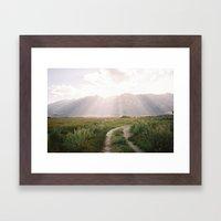 The Sierras Off 395 Is N… Framed Art Print