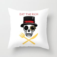 EAT THE RICH Throw Pillow
