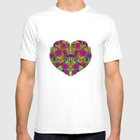 I Heart Mens Fitted Tee White SMALL