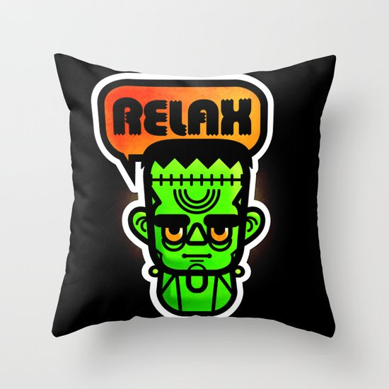 Frankie Says Relax Throw Pillow