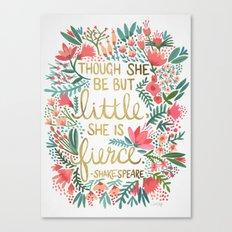 Little & Fierce Canvas Print