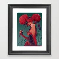 DECADENTLY HORNY Framed Art Print