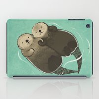 Significant Otters - Otters Holding Hands iPad Case