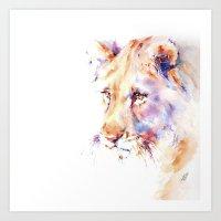 Patience . Lion Art Print