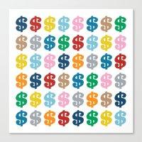 Colourful Money 48 Canvas Print