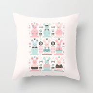 Pink Sugar Gingerbread R… Throw Pillow