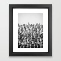 federwald (monochrome series) Framed Art Print