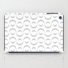 Monochrome Wavy Pattern. iPad Case