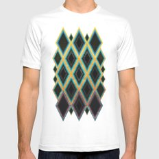 Diamond pattern Mens Fitted Tee SMALL White