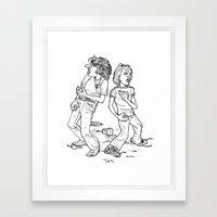 Don't Fight It, Feel It. Framed Art Print