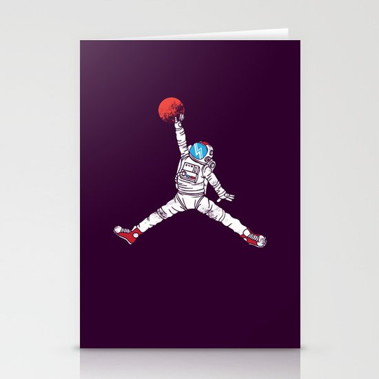 space dunk (purple ver.) Stationery Card