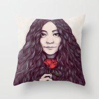 Yoko Ono Throw Pillow