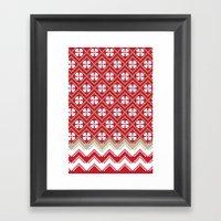 Glove in Red Framed Art Print