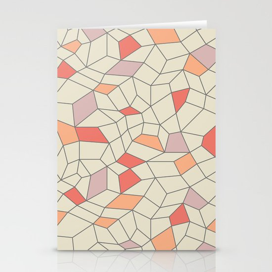 mod colorblock mesh Stationery Card