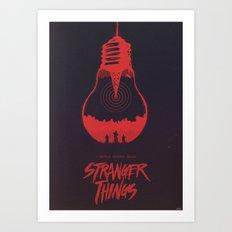 The Upside Down - Stranger Things Art Print