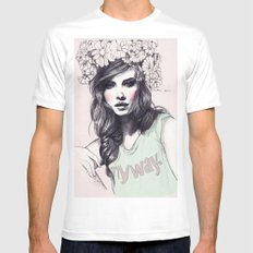 Barbara Mens Fitted Tee SMALL White