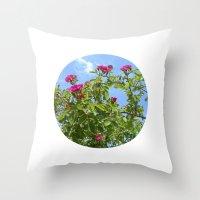 Summer Wild Rose VII Throw Pillow