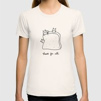 bread for all Womens Fitted Tee Natural SMALL