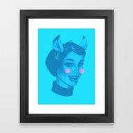 Framed Art Print featuring Animal Mother by Novak Hunter Art