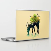 cow Laptop & iPad Skins featuring Watering (A Life Into Itself) by Picomodi