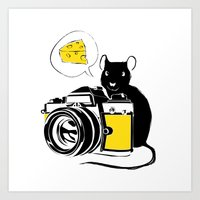 Say Cheese! Art Print