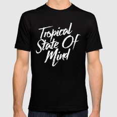 Tropical State Of Mind Black Mens Fitted Tee SMALL