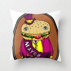 the mayor Throw Pillow