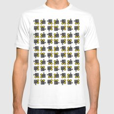 camera 01 pattern SMALL Mens Fitted Tee White