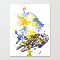 Star Wars Millenium Falcon  Canvas Print