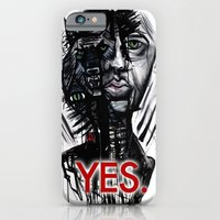 iPhone & iPod Case featuring YES wolf by mark kowalchuk